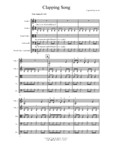 Clapping-Song-sample-score